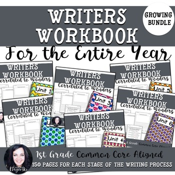 Wonders 1st Grade Writing Workbook For the Entire Year (GR