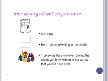 1st Grade Writing lesson 1.6 You are the writer