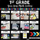 1st Grade Year Long Math Centers {Bundle}