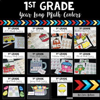 1st Grade Year Long Math Centers {Bundle}