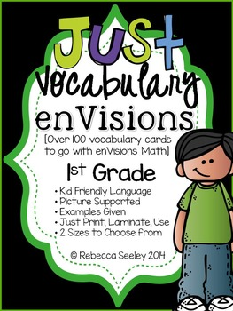1st Grade enVisions Math: Just Vocabulary