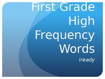 1st Grade iready High Frequency Words Practice