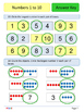 1st Grade Math Booklet - Numbers 1 to 10 - Mixed practice w answer key