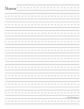 Superior 1st Grade Writing Lines + Name