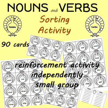 Nouns and Verbs Sorting Center