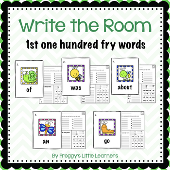 1st hundred Fry sight words Write the Room