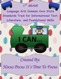 1st Common Core I Can Statement Train Informational-Literature-Foundational B2S
