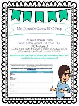 World History Lab-  Mesopotamia and Egypt-  SS.6.W.2.2