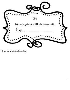 1st Quarter Math Journal for Kindergarten