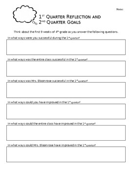 1st Quarter Reflection and 2nd Quarter Goals