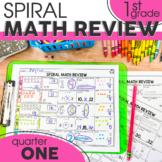 1st Quarter Spiral Math Review | 1st Grade Morning Work | Homework