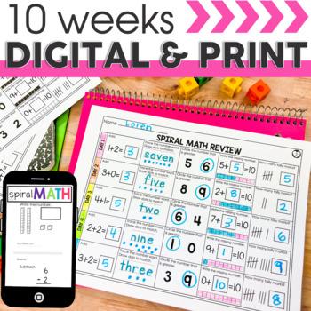 1st Quarter Spiral Math Review   1st Grade Morning Work   Homework