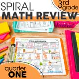 1st Quarter Spiral Math Review | 3rd Grade Morning Work | Homework