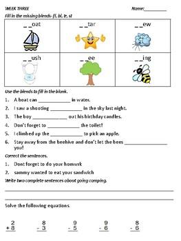 1st Quarter Weekly Homework