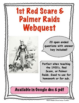 1st Red Scare & Palmer Raids Webquest