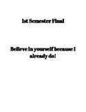 1st Semester Final