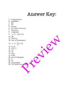 1st Semester Geometry Review Bingo Game