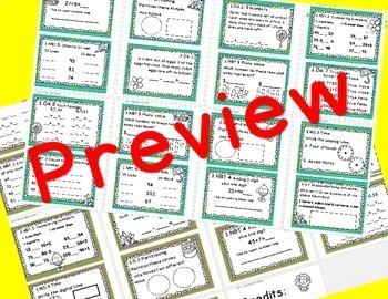 2nd Semester Math Task Card Bundle 1st Grade