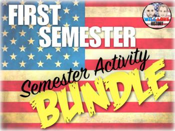 First Semester U.S. History Semester Activity Bundle (ACTIVITIES ONLY)
