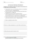 1st Sentence Revision Worksheet