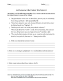 1st Sentence Revision Worksheet