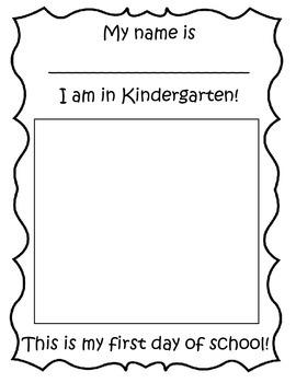 1st Week of Kindergarten Journal
