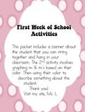 1st Week of School Activites