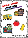 First Week of School Lesson Plans and Activities for 2nd Grade
