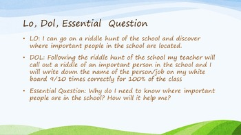 1st Week of school rules, constitution and school scavenger hunt
