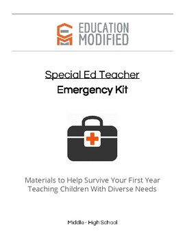 1st Year (and Beyond) Special Education Teacher Emergency Kit