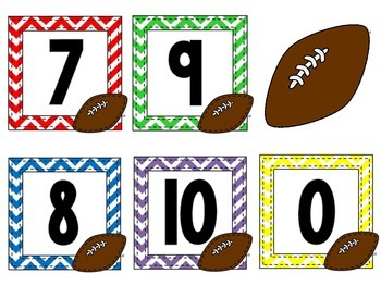 1st and 10 Fall Football Math Workstations