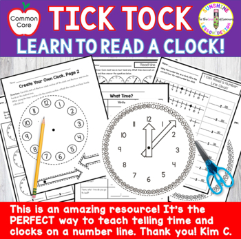 Telling Time Introduction-Hour Hand and Number Line Clock Activities.