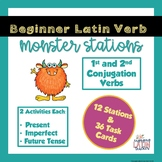 1st and 2nd Conjugation Latin Verb Endings Activities
