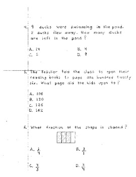 1st and 2nd End Of Grade Math Test Prep