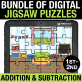1st and 2nd Grade Basic Addition and Subtraction Digital M