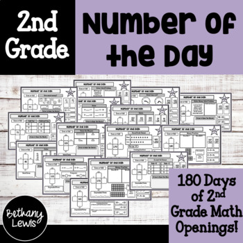 2nd Grade Daily Math Review: Number of the Day