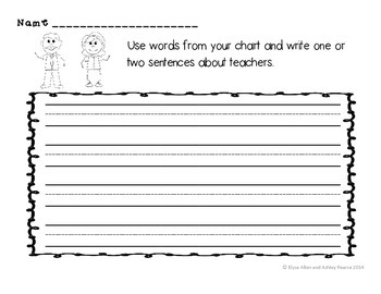 1st & 2nd Grade Is/Has/Can Prewriting Graphic Organizers and Writing Organizer