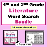 1st and 2nd Grade Literature Vocabulary, Year long, Word Search Bundle