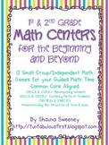 1st and 2nd Grade Math Centers for the Beginning and Beyond