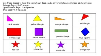 1st and 2nd Grade Math Centers or Journals