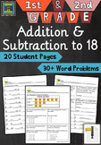 1st and 2nd Grade Math Unit:  Addition and Subtraction to 18  ***ZIP