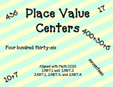 1st and 2nd Grade Place Value Centers - Math CCSS Aligned