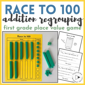 1st and 2nd Grade Place Value Regrouping Game Math Center-