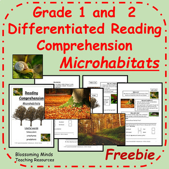 1st and 2nd Grade Reading Comprehension - Microhabitats