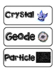 1st and 2nd Grade Rocks and Minerals Vocab Cards