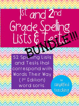 1st and 2nd Grade Spelling Lists BUNDLE {Simplified Teaching}