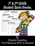 1st and 2nd Grade Student Data Binders