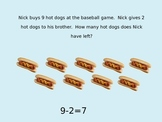 1st and 2nd Grade Subtraction Word Problems Powerpoint Pre