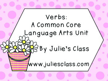 1st and 2nd Grade Verb Unit