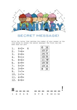 1st and 2nd Grade Winter Activity Packet